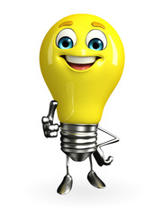 Light Bulb Character with best sign