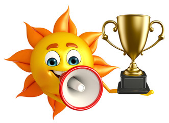 Sun Character With trophy