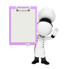 Chef with notepad
