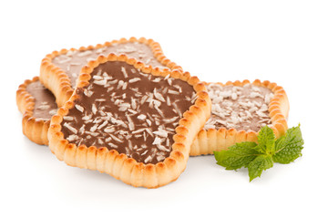Chocolate and coconut tartlets