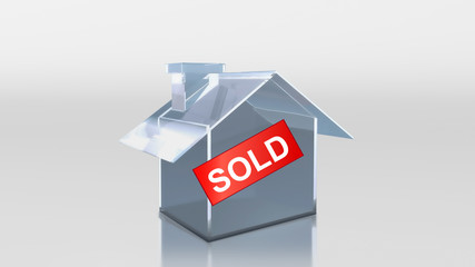 investment glass house sold label