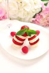 Fresh strawberry with banana