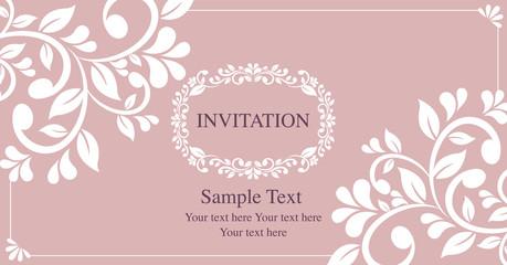 invitation card vintage style