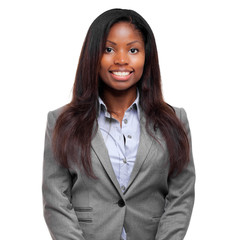 Smiling black businesswoman