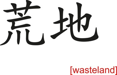 Chinese Sign for wasteland