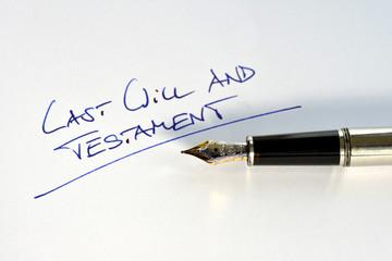 Last Will and Testament, Erben, Erbschaft, Tod, Füller