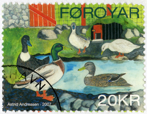 FAROE ISLANDS - 2007: shows Ducks by Astrid Andreasen, series Do Poster