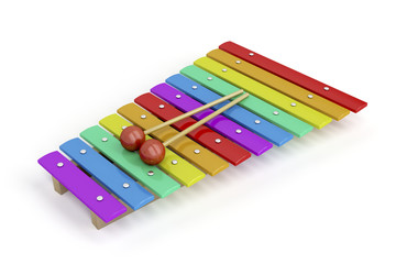 Colorful xylophone