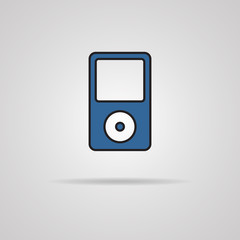 Portable media player vector icon