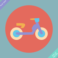 Transportation Flat Icon. Vector Pictogram