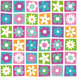 colorful flowers collection pattern