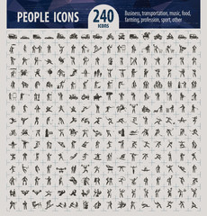 People icons. Vector format