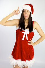 Female Santa Claus has an idea for Christmas