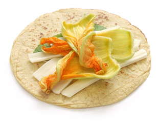 Foto: squash blossom quesadillas, Mexican food