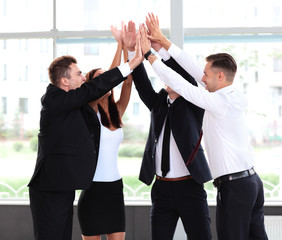 Successful business team celebrating their succes