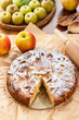 French apple and pear pie