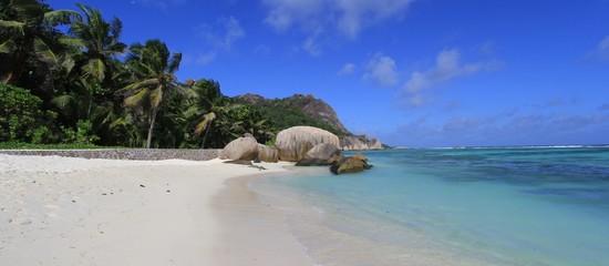 plage, anse source d'Argent, Seychelles