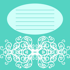 card with lace pattern