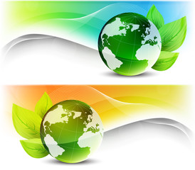 Set of ecology banners