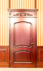 Classic interior and front wooden doors