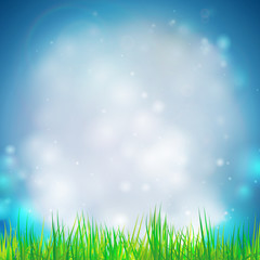 Abstract background with grass vector illustration. Vector