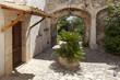 canvas print picture - Eingang einer Finca auf Mallorca