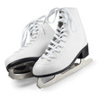 canvas print picture - Figure skates isolated on white with clipping path