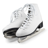 Fototapety Figure skates isolated on white with clipping path