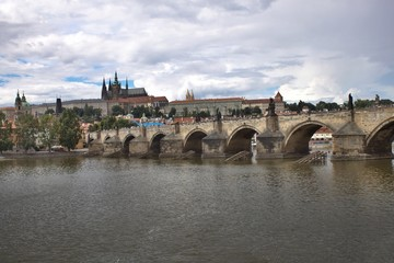 Prague - view of the Charles Bridge