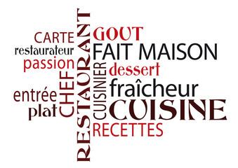""""""" Fait maison"""" - Nuage de mots thème restaurant"""