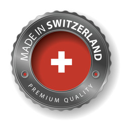 Made in Switzerland, Swiss made Seal, Flag (Vector Art)