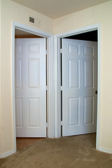 two interior doors open