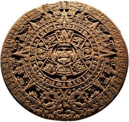 Aztec calendar - on a white background