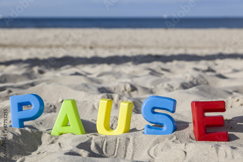 canvas print picture Pause - Ruhige Moment am Strand
