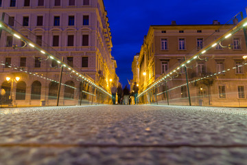 Short bridge over Canal Grande in Trieste