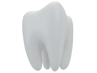 Tooth isolated on white back.