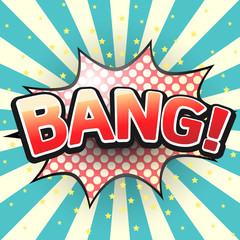 Bang, Comic Speech Bubble. Vector illustration.
