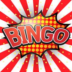 Bingo, Comic Speech Bubble. Vector illustration.