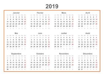 2019 french calendar