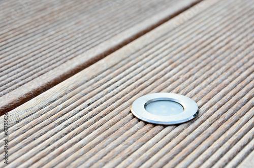 Fotobehang Tuin Terrassenbeleuchtung