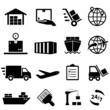 Shipping and logistics icons - 67755882