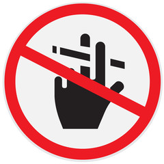 Sign, no, smoking
