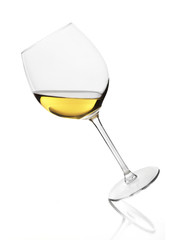 Diagonal White wine glass