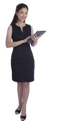 Businesswoman using digital tablet computer PC