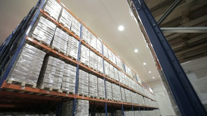 automated logistics systems in stock view from the top
