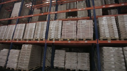 Aautomated logistics systems in stock view from the top