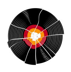 broken vinyl record