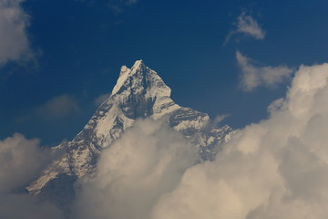 Mt.Machapuchare in the Himalayas-Nepal. 0483