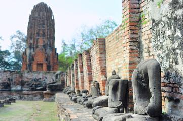 Buddha statues without head