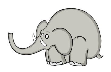 cartoon elephant, vector